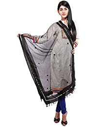 Vasavi Black Colour Mirror Work Dupatta The Great Indain Sale