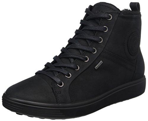 Ecco Soft 7 Ladies, Sneaker a Collo Alto Donna Nero (Black)