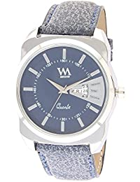 Watch Me Blue Blue Blue Leather Blue Watch For Men AWC-017