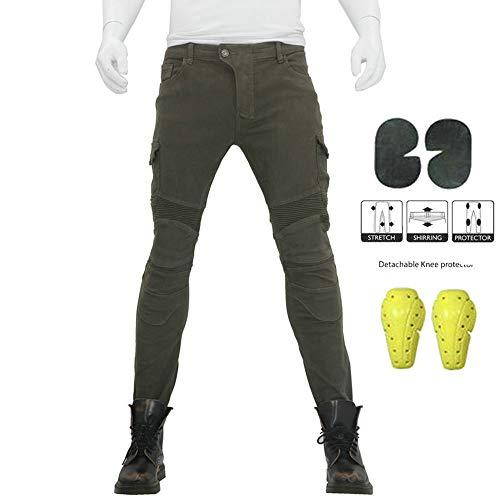 Atack-B Pantalones De Motociclismo Para Hombres, Pantalones De Carreras De Motocross Con...