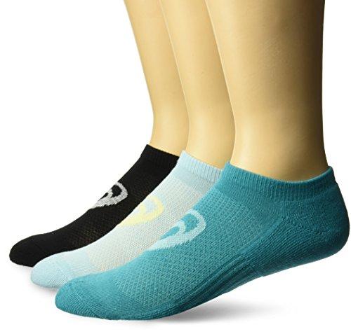 ASICS Damen Invasion No Show (6 Pack) Socken, Black Assorted, Medium