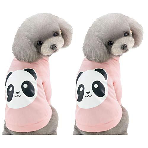 YiiJee Mode Kleidung für Haustiere mit Karikatur Muster Drucken Stilvolle Einfachheit Welpen Kostüm (Stil 5, XL) -