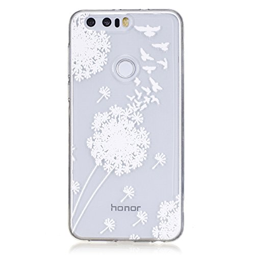 Price comparison product image For Huawei Honor 8 Case Cover,  Ecoway TPU Clear Soft Silicone Back Colorful Printed Pattern Silicone Case Protective Cover Cell Phone Case for Huawei Honor 8 - Geese