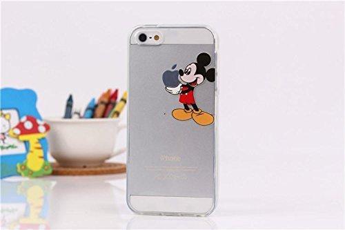 Handyschutz Disney Cartoon und Superheld, weicher Kunststoff, transparent, für Apple iPhone 5/5S/ 6/ 6Plus, plastik, SNOOPY, Apple iPhone 5/5S MICKEY