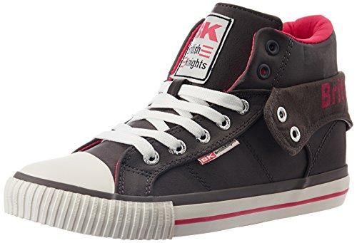 British Knights Roco Damen Hohe Sneakers Grau (DK Grey-Fuchsia 10)