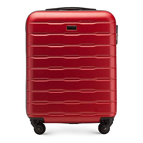 WITTCHEN - Valigia robusta, trolley bagaglio a mano, dimensioni 54 x 39 x 23 cm, capacità 38 l, peso 2,7 kg, ABS, Rot (Rosso) - 56-3A-381-30