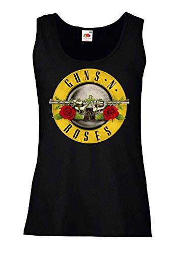 camiseta-de-tirantes-mujer-guns-n-roses-100-algodon-lamaglieria-m-negro