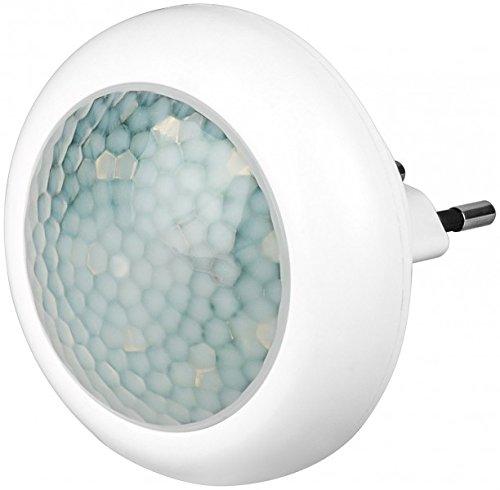 Goobay 96501 A++ LED-Nachtlicht mit Bewegungsmelder, Plastik, weiß, 0.7 x 0.8 x 0.5 cm