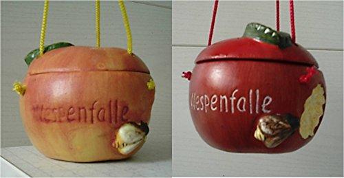 Wespenfalle Apfel rötlich + orangegelb 2er Set Wespenfänger