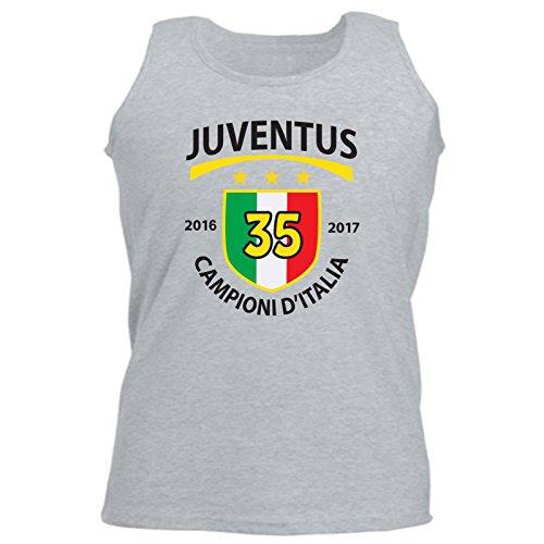 Art T-Shirt, Shirt ohne Ärmel Juventus Proben 2017, Herren Grau