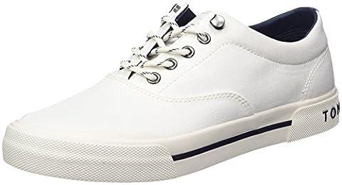 Tommy Hilfiger Herren Y2285ARMOUTH 1D Low-Top, Weiß (White 100), 43