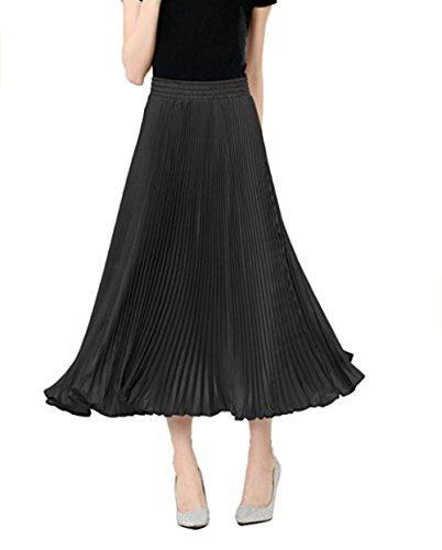 Generic - Jupe - Plissée - Femme Taille Unique Noir