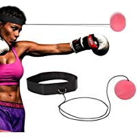 Wesoke Reflex Fight Ball, Boxing Equipment Kit with Adjustable Headband for Kids and Adult, Elastic Head Ball on Lengthened String for Reaction, Improve Punching Speed & Accuracy, Kickboxing Training