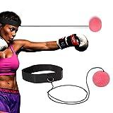 Wesoke Reflex Fighter Ball, Kit d'équipement de Boxe avec Serre-tête Ajustable pour Enfants et Adultes, Balle élastique à la tête pour rallonge, pour améliorer la réactivité