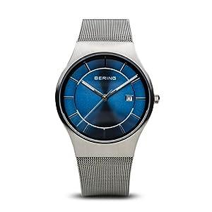 BERING Herren-Armbanduhr Analog Quarz Edelstahl 11938-003