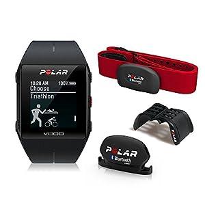 Polar V800 Javier Gómez Noya - Reloj deportivo GPS, sensor de frecuencia cardíaca H7 HR, soporte y sensor de cadencia, color negro