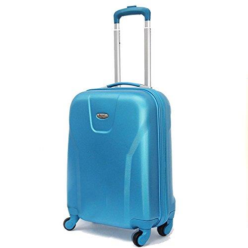 Maleta Trolley Benzi 4 ruedas, 39 x 52 x 19 cm (Azul)
