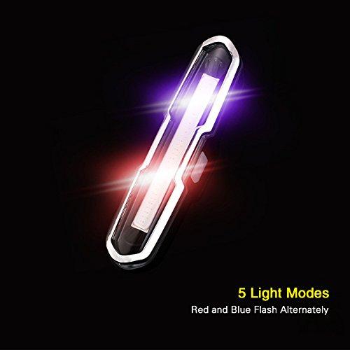 Strobe Lampen (Zantec Bike Tail Light, Radfahren Sicherheit COB LED Rücklicht, Warnung Strobe Lampe mit USB Zantec Aufladung, 5 Dual Light Modi für Fahrräder Rucksack Helm Front Light Zubehör)