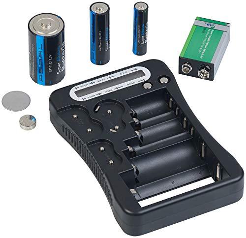 tka Köbele Akkutechnik Batterieprüfer: Digitaler Profi-Batterietester mit LCD-Anzeige, für gängige Batterien (Akkutester)