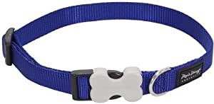 Plain Dog Collars, Small - 12mm x 20-32cm, Blue
