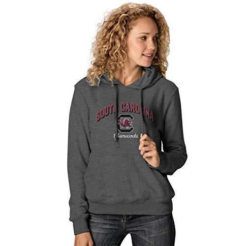 NCAA Damen Premium Campus Classic Goodie Hoodie - mehrere Teams, Größen, Damen, South Carolina Gamecocks - Charcoal, Womens Large Big Logo Hooded Sweatshirt Charcoal