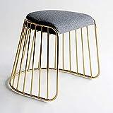 SUP-MANg Le Tabouret de vanité d'or Moderne/Le Tabouret de Maquillage s'habillant Banc a capitonné/la Chaise Dinning tapissée/avec Le Dossier en métal d'or pour la Cuisine Chambre à Coucher