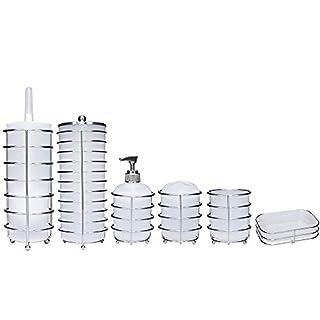AQUALONA 90374 Saturn Toilet Roll Holder White & Chrome
