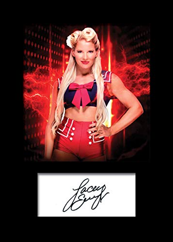 Lacey Evans WWE #1 Foto-Nachdruck auf Passepartout, A5-Größe, passend für 15,2 x 20,3 cm Rahmen, maschinell geschnitten, Geschenk, Sammlerstück - Evans Foto