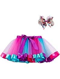 5a154d19ee9f Xmiral Tutu Vestito Costume da Ballo per Ragazza 2 Pezzi Costume da Ballo Arcobaleno  Vestito Carnevale
