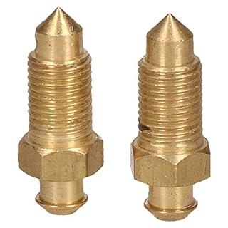 Brass Brake Caliper Bleeding Bleed Nipple Screw 3/8 x 24 UNF 2 Pack