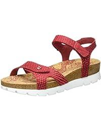 PANAMA JACK Damen Sulia Snake Offene Sandalen mit Keilabsatz