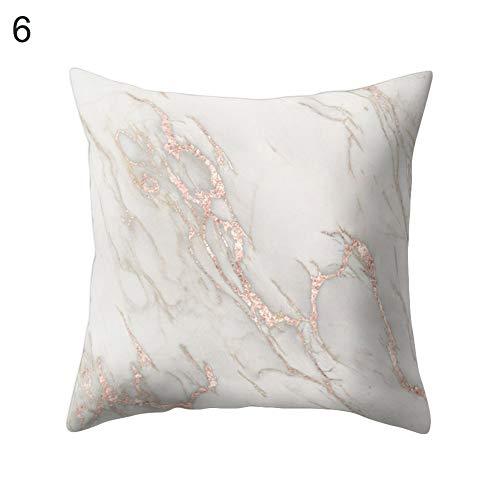 Square Marmor (WYLZT Kissen Kissenbezug 45 * 45 cm Marmor Muster Weiche Komfortable Bett Kissenbezug Home Room Fashion Square Print Kissenbezug)