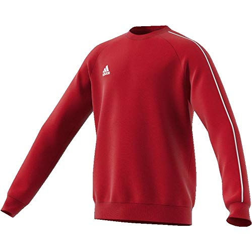 adidas Kinder Core18 SW Top Y Sweat-Shirt, Rot (power red/White), S (7-8 Jahre) -