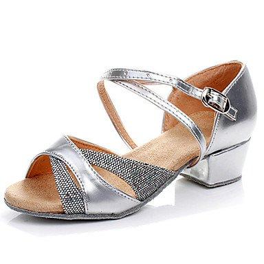 Ruhe @ Kids 'Dance Schuhe latin/Salsa/Flamenco/Samba Kunstleder/Synthetik Flacher Absatz Silber/Gold Silber