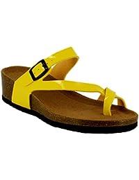 Ideal Shoes - Nu-pieds style orthopédique Kahina