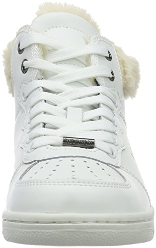 Pepe Jeans Lindsay, Baskets Hautes Femme Blanc (800White)