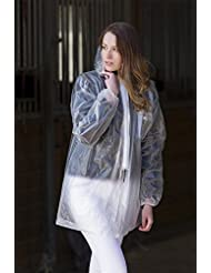 Veste de pluie transparente avec zippve rschluss pratique