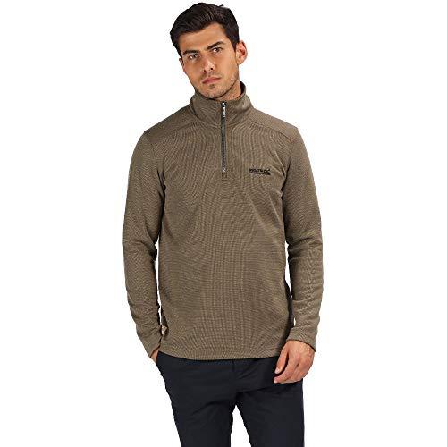 Half Zip Knit Top (Regatta Mens Tarian Waffle Knit Half Zip Fleece Top)