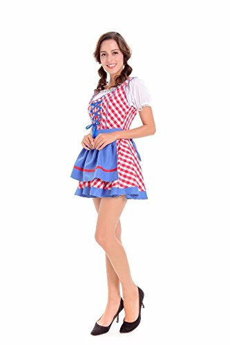 es Sexy Costumes Oktoberfest bavarois Uniforme de soubrette Girl Fancy Dress Halloween Party Outfit,red,XL (Costume D ' Homme Halloween)