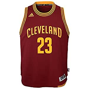 66c83012577 Lebron James Cleveland Cavaliers Adidas NBA Youth Swingman Jersey - Red