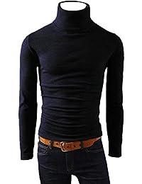 Pullover Haut Pull à Col Homme,Covermason Pulls Basique Homme Coton Sweater  Col Roulé Chandails c24ca31d992