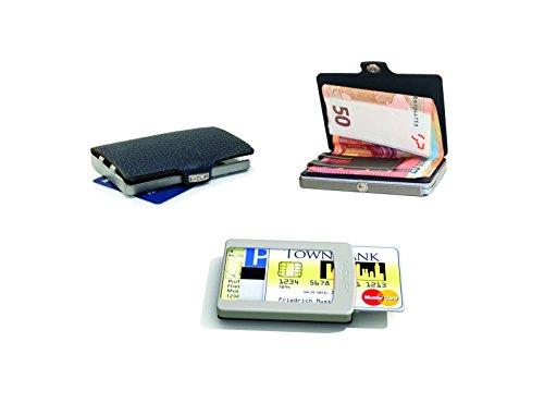 Flux Design Small Indigo Purple Vintage Leather i-Clip Wallet Card & Note Holder