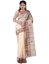 Unnati Silks Cotton Saree Without Blouse Piece(Unm31871_Peach Orange_Free Size)