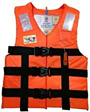 Jilani Trading Adult Safety Life Jacket Weight Capacity up to 100Kg (6.8915795879e+011, Orange)
