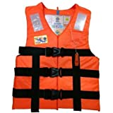 Jilani Trading Adult Safety Life Jacket Weight Capacity up to 100Kg (6.8915795879e+011, Orange)
