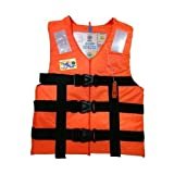 #3: Adult Safety Life Jacket Weight Capacity Up to 100Kg Orange