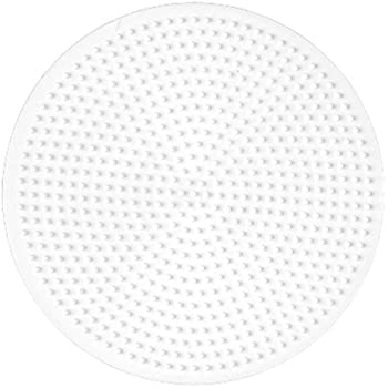 Hama 221TR - Loisirs Créatifs - Plaque pour Perles à Repasser Midi - Rond Transparent