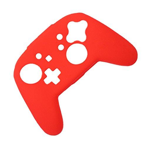 Preisvergleich Produktbild MagiDeal Silikon Schutzhülle Staubdicht Abdeckung Haut Für Nintendo Switch Pro Controller - Rot