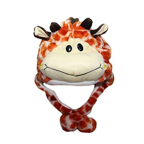 FY Unisex Erwachsene Kinder Tiermütze Wintermütze Plüschmütze Neuheit Winter Mützen Hüte Panamahüte Halloween Cosplay Verkleiden Weihnachten Geschenk Giraffe