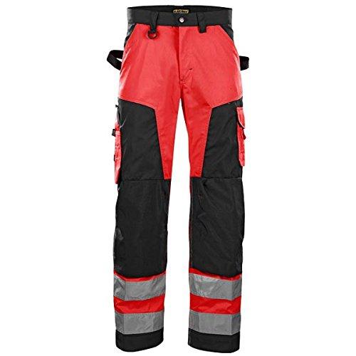 blakläder 156618115599C44Pantaloni alta visibilità Rosso/Nero, multicolore, 156618115599D108